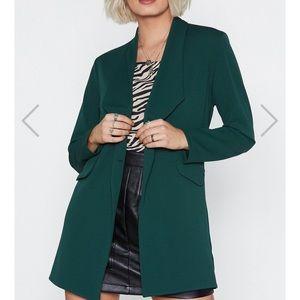 Nasty gal act professional green blazer